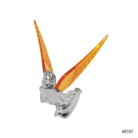 CHROME HOOD ORNAMENTS WITH ILLUMINATED WINGS | 48101