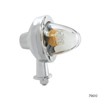 LED MOTORCYCLE LAMP WITH CLEAR GLASS LENS   79610