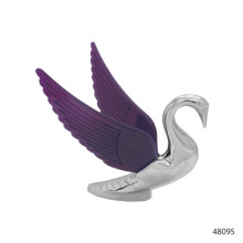 CHROME HOOD ORNAMENTS WITH ILLUMINATED WINGS | 48095