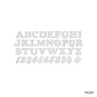 LETTERS AND NUMBERS-RETRO STYLE | 94220