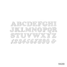 LETTERS AND NUMBERS-RETRO STYLE | 94405